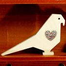 【全館5折】WaBao ZAKKA雜貨 韓國正品動物造型+愛心形水晶家居擺飾 (小鳥) =K00009=