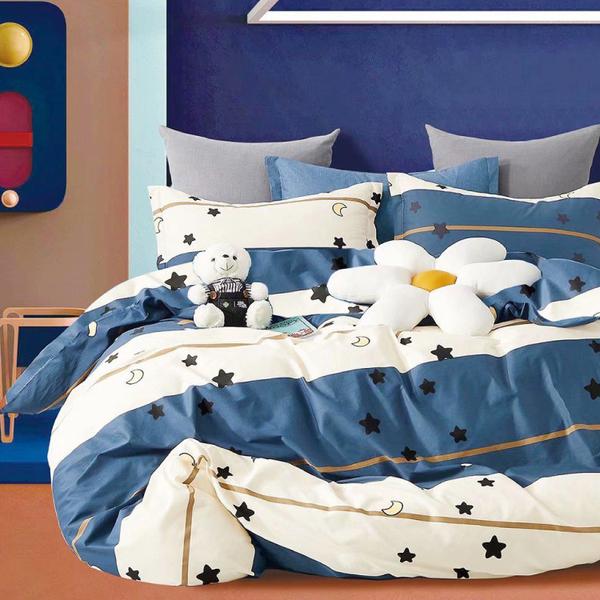 Artis-雙人加大床包/薄被套四件組 海天一色 雪紡棉