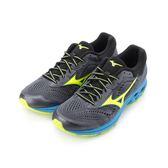 MIZUNO WAVE RIDER 22 慢跑鞋 黑螢綠 J1GC183145 男鞋
