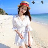海邊度假海灘裙顯瘦連身裙泳衣罩衫