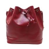 路易威登 LOUIS VUITTON 紅色EPI水波紋束口水桶包 Petit Noe NM M40676 【BRAND OFF】