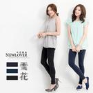 窄管褲 NEWLOVER 【268-9677】韓版超彈性雪花紋窄管褲-3色S-XL