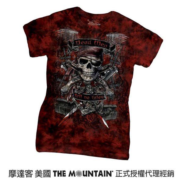 【摩達客】(現貨)美國進口The Mountain 骷髏王 短袖女版T恤精梳棉環保染(12516045077)