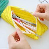 筆袋創意個性搞怪簡約可愛一根拉鍊文具盒