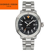 【萬年鐘錶】Giorgio Fedon 1919義大利工藝  Accurate I 黑x銀 GFBE004