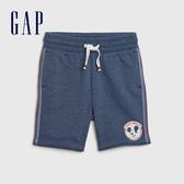 Gap男幼童 Gap x Disney迪士尼系列印花鬆緊休閒短褲 566969-混合海軍藍