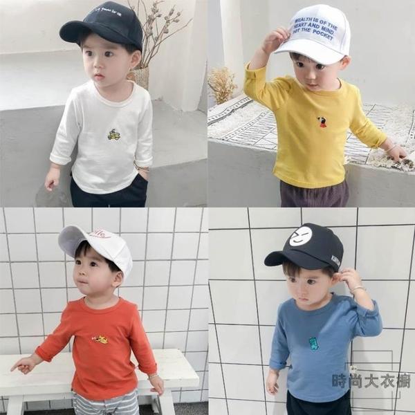 寶寶t恤男長袖小童上衣嬰兒打底衫兒童衣服【時尚大衣櫥】