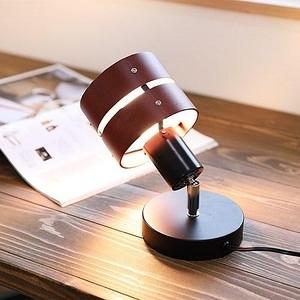 [LEDA THEATER]木圈小桌燈/迷你落地燈/間接照明小燈具黑底x深棕色