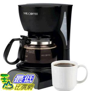 [104美國直購]  Mr. Coffee 咖啡大師 DR5 4-Cup Coffeemaker, Black 滴漏式 美式咖啡機 一鍵式智能沖泡_U3