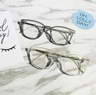 [超豐國際]韓版學院風大方框透明眼鏡框男女框架平光鏡時尚配近1入