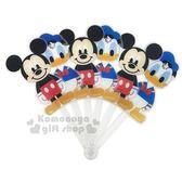 〔小禮堂〕迪士尼 米奇 造型塑膠折扇《站姿.唐老鴨》人型扇.手拿扇 8039700-10001