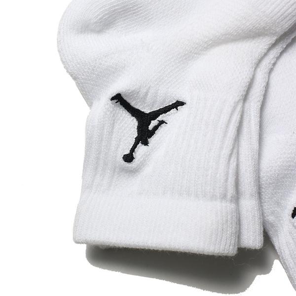 NIKE 長襪 運動襪 JORDAN 中筒 籃球襪 全白 襪子 三雙一組 小腿襪 (布魯克林) SX5544-100