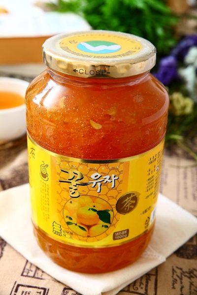韓國柚子茶1公斤裝(買2罐就送手提禮盒ㄧ只)
