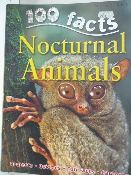 【書寶二手書T1/動植物_D6R】100 Facts - Nocturnal Animals: Step into the Twilight and…