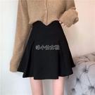 設計感小眾復古黑色高腰顯瘦半身裙女早春新款百褶包臀短裙女潮 快速出貨