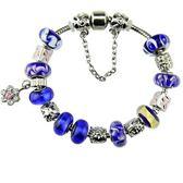 手鍊潘朵拉元素串珠925純銀-琉璃飾品知性藍色生日情人節禮物女配件2款73ay25【時尚巴黎】
