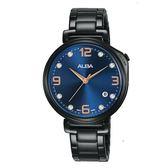 ALBA雅柏 新上市廣告款情人對錶推薦女生款 VJ32-X290SD(AG8J77X1)黑X藍
