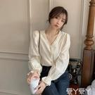 長袖襯衫 溫柔風上衣女裝春秋季外穿2021新款法式設計感百搭洋氣質長袖襯衫 愛丫 新品