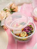 分隔玻璃碗微波爐專用可加熱保溫帶蓋網紅飯盒女保鮮便當盒上班族 麥琪精品屋