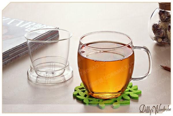 ☆Dolly生活館*╮GORAME 手工耐熱玻璃三件式過濾帶蓋玻璃杯水杯/花茶杯/過濾杯 20685