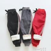 嬰兒童棉褲子男童裝外穿秋冬季韓版洋氣潮保暖寶寶加絨加厚打底褲  (pink Q時尚女裝)
