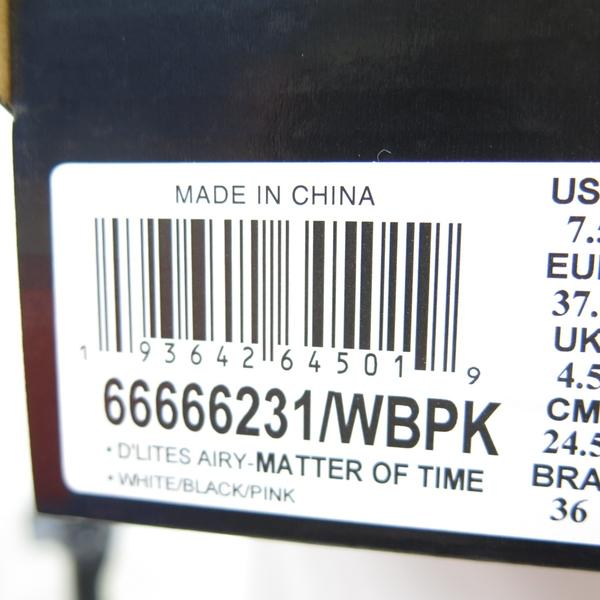 Skechers D LITES AIRY 女款 休閒鞋 66666231WBPK 白粉黑【iSport愛運動】