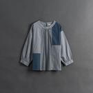 Queen Shop【01097117】女裝 親子系列 格紋拼接撞色上衣*現+預*