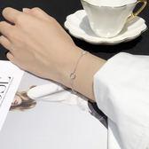 六邊形女生手鍊女韓版簡約個性 純銀手鍊首飾女流行飾品