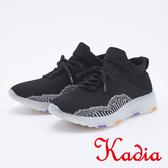kadia.編織襪套運動鞋(9528-98黑色)