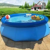 游泳池 大型家庭嬰兒童充氣游泳池夾網加厚小孩家用超大號寶寶成人戲水池 米蘭街頭IGO