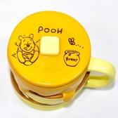 小熊維尼 蜂蜜鬆餅 含蓋 磁器 馬克杯 正版 日本進口