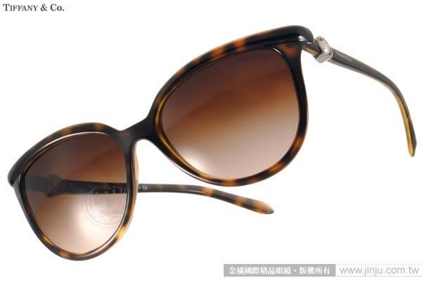Tiffany&CO.太陽眼鏡 TF4093H 80153B (琥珀) 人氣經典迷人貓眼款 # 金橘眼鏡