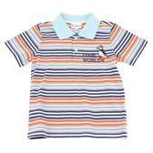 【愛的世界】橫紋短袖POLO衫/10歲-台灣製- ★春夏上著