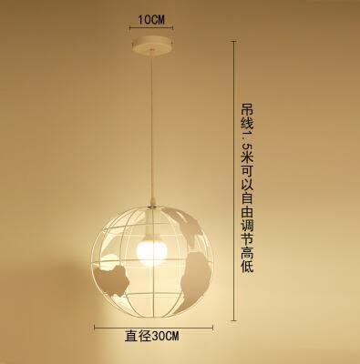 餐廳吊燈三頭創意個性飯廳燈吧台臥室餐廳燈簡約現代過道餐吊燈具  單頭地球款