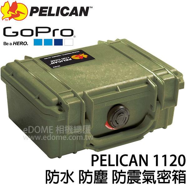 PELICAN 派力肯 (塘鵝) 1120 綠色 防水氣密箱 (6期0利率 免運 正成/環球公司貨) 防震 防塵 適用GoPro
