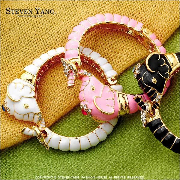 手環STEVEN YANG正白K飾「異國風大象」精緻俏皮風