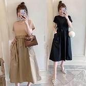 大碼女裝2021夏顯瘦遮肉裙子胖妹妹肥mm遮肚氣質連衣裙洋氣長裙 蘑菇街