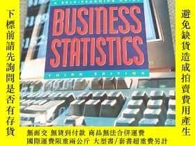 二手書博民逛書店BUSINESS罕見STATISTICS : A Self - Teaching Guide(商業統計:自學指南