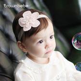 crownbebe發帶兒童發飾新生兒寶寶拍照生日百日頭飾公主女頭花【東京衣秀】