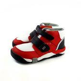 日本月星MOONSTAR 魔鬼氈高筒機能學步鞋 《7+1童鞋》B433 紅色