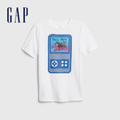Gap 男童 宇宙主題印花短袖T恤 573657-光感白
