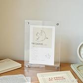 元氣角落 透明亞克力擺臺相框ins簡約桌面相架擺件卡片展示架畫框 樂活生活館