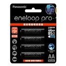 【Panasonic國際牌】2550mAh即可用eneloop pro鎳氫充電電池3號4入(日本製BK-3HCCE4BTW高容量)公司貨