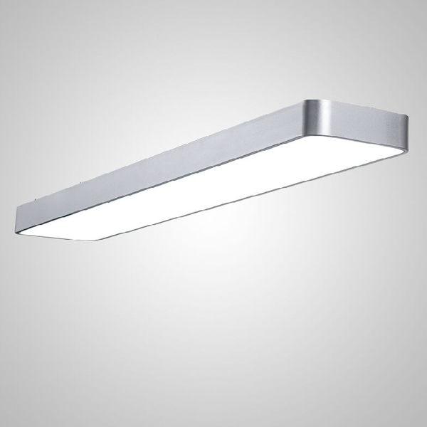 現代簡約LED辦公室吊燈長條鋁材燈長方形商業燈飾商場工程燈具XW免運
