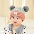 針織帽嬰兒帽子秋冬季女寶寶公主正韓針織帽...
