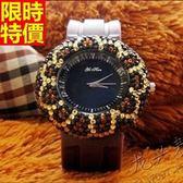 鑽錶-造型經典休閒女腕錶6色5j95[巴黎精品]