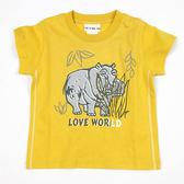 【愛的世界】純棉圓領河馬短袖T恤/1歲-台灣製- ★春夏上著
