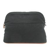 HERMES 愛馬仕 黑色棉質帆布化妝包 Bolide Pouch 25 【BRAND OFF】