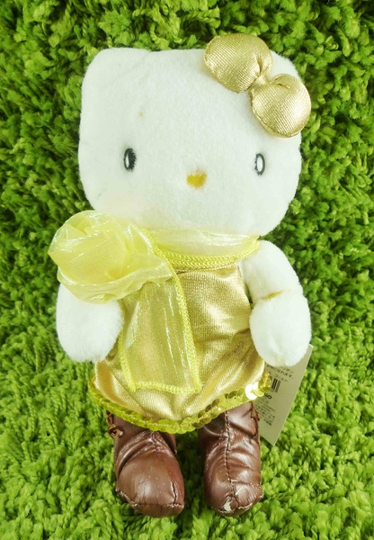 【震撼精品百貨】Hello Kitty 凱蒂貓~KITTY絨毛娃娃-全身圖案-金色
