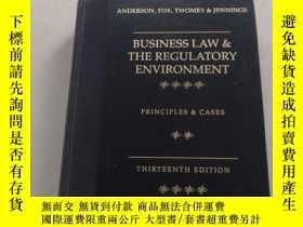 二手書博民逛書店Business罕見Law and the Legal Envi